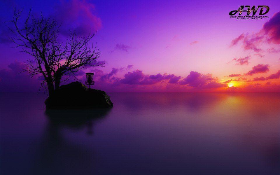 Sunset Island Disc Golf Wallpaper